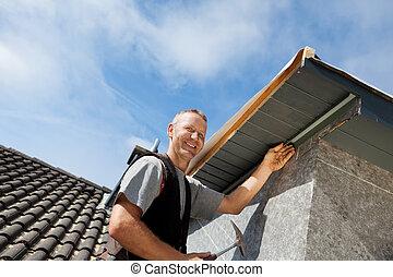 onderdelen, montage, roofer, dakvenster