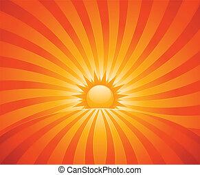 ondergaande zon , achtergrond