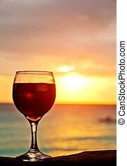 ondergaande zon , cocktail