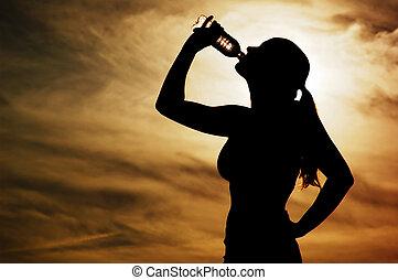 ondergaande zon , dorst