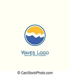 ondergaande zon , logo