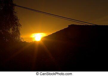 ondergaande zon , macht