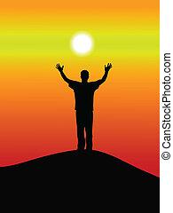 ondergaande zon , succes