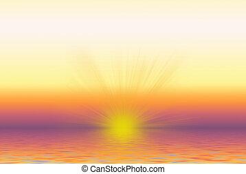 ondergaande zon , zonopkomst