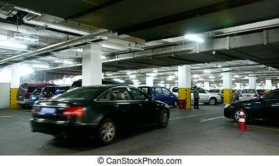 ondergronds, parking.