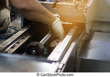 onderhoud, technicus, herstelling, machine