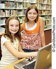 onderricht bibliotheek, -, houding