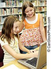 onderricht bibliotheek, -, plezier, online