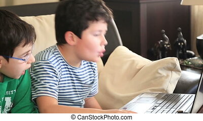 onderricht kinderen, het gebruiken computer