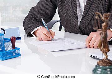 ondertekening document, kantoor