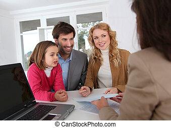 ondertekening, echte-erfenis, contracteren, gezin