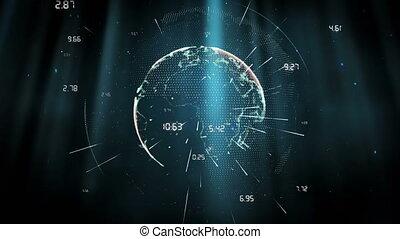 onderwater, digitale , globe
