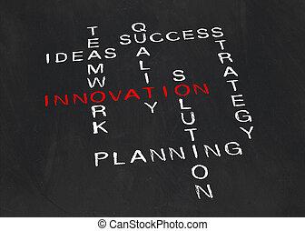 onderwerp, kruiswoordraadsel, innovatie