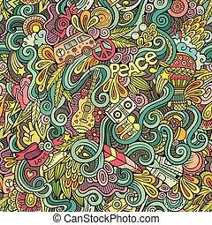 onderwerp, stijl, thema, spotprent, hippie, hand-drawn, ...