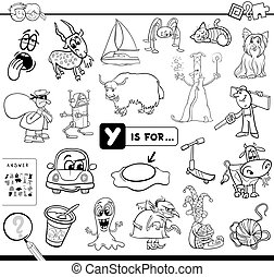 onderwijs, spel, kleuren, y, boek