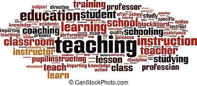 onderwijs, woord, wolk