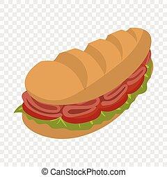 onderzeeboot sandwich, spotprent