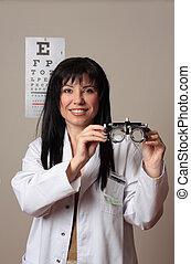 onderzoek, oog, visie