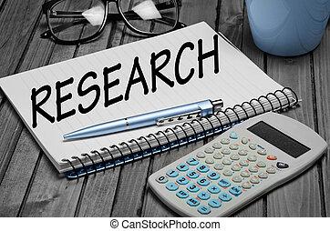 onderzoek, woord