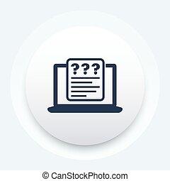 onderzoeken; inspecteren;, online, vragenlijst, vector