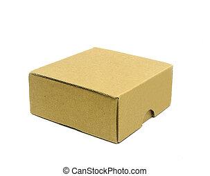 ondulé, boîtes, carton, blanc