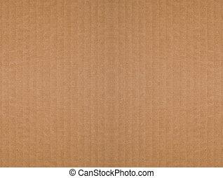 ondulé, brun, carton, fond