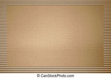 ondulé, brun, carton