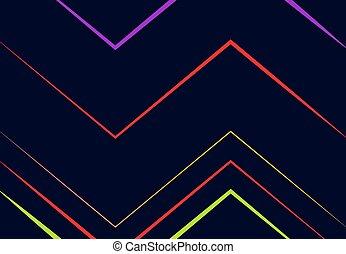 ondulé, fond, raies, géométrique, coloré, enchevêtrement, ...