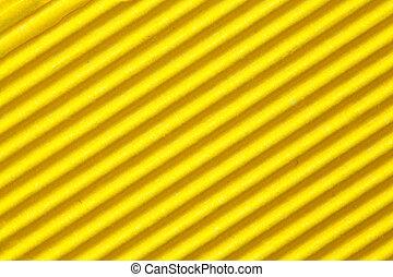 ondulé, jaune, carton, papier, fond