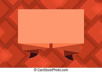 ondulé, plissé, conception, banderole, bande, ruban, disposition, esp, plié, isolé, gabarit, vide, 3d, plat, illustration affaires, bannière, minimaliste, graphique, dimension, vecteur, publicité, écharpe
