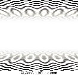 ondulé, surface., textured, perspective