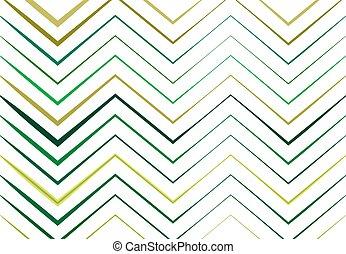 ondulé, vert, zigzag, coloré, lignes, fond, texture, résumé...