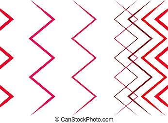 ondulé, zigzag, coloré, fond, lignes, texture, résumé, ...