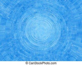 ondulação azul