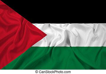 ondulación, bandera de palestine