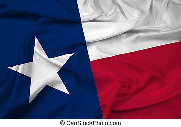 ondulación, bandera del estado, tejas