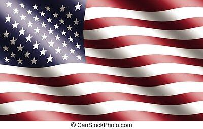 ondulación, bandera estadounidense