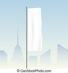 ondulación, ciudad, bandera, Plano de fondo