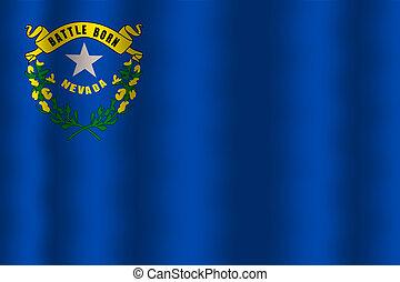 ondulación, estado, bandera de nevada