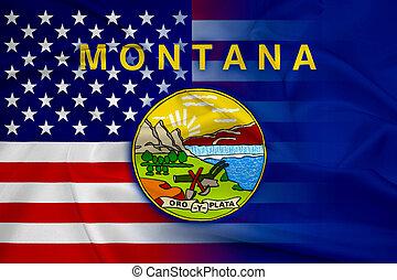ondulación, estados unidos de américa, y, estado de montana, bandera
