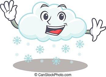 ondulación, sonriente, charismatic, diseño, nevoso, nube, ...