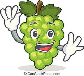 ondulación, uvas verdes, carácter, caricatura