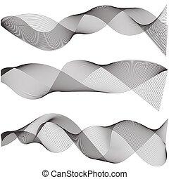 ondulado, ferramenta, múltiplo, som, ondas, criado, pista, mistura, abstratos, gráfico, linha, criativo, waveform, vetorial, desenho, arte, usando, listras, macio, contorno, elementos