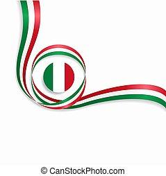 ondulado, illustration., experiência., bandeira, vetorial, italiano