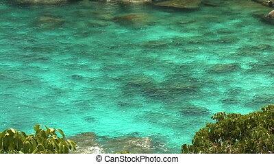 ondulation, beau, bleu, mer