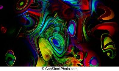 ondulation, coloré, art, résumé