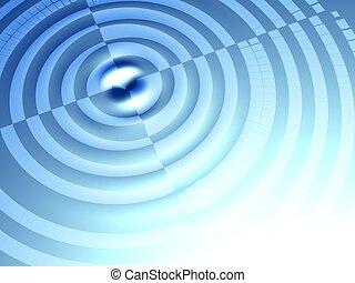 ondulation, concept, cible, fond, effet