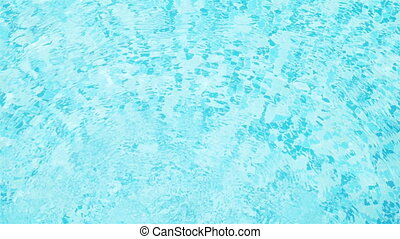 ondulations eau, piscine