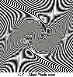 ondulato, arte, astratto, struttura, fondo, nero, zebra, onde, ottico, strisce, bianco