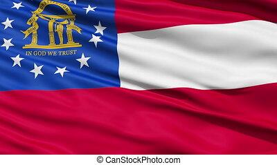 onduler, état, géorgie drapeau, nous